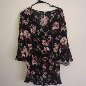 Fashion Nova Dresses - Fashion nova flower pattern romper